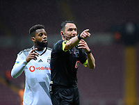 15th March 2020, Istanbul, Turkey;   Referee Abdulkadir Bitigen and Jeremain Lens of Besiktas during the Turkish Super league football match between Galatasaray and Besiktas at Turk Telkom Stadium in Istanbul , Turkey on March 15 , 2020.