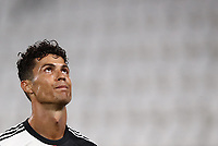 Calcio, Serie A: Juventus - Sampdoria, Turin, Allianz Stadium, July 26, 2020.<br /> Juventus' Cristiano Ronaldo looks up during the Italian Serie A football match between Juventus and - Sampdoria at the Allianz stadium in Turin, July 26, 2020.<br /> UPDATE IMAGES PRESS/Isabella Bonotto