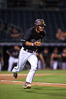 ASU Sun Devils Aliki Williams (5) hustles toward first base during an Instructional League game against the Texas Rangers at Surprise Stadium on October 6, 2018 in Surprise, Arizona. (Zachary Lucy/Four Seam Images)