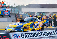 Sep 26, 2020; Gainesville, Florida, USA; NHRA funny car driver Ron Capps during qualifying for the Gatornationals at Gainesville Raceway. Mandatory Credit: Mark J. Rebilas-USA TODAY Sports