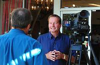 Jun. 16, 2009; Casa Grande, AZ, USA; Las Vegas head coach Jim Fassel during the groundbreaking of the Casa Grande Training Facility & Performance Institute in Casa Grande. Mandatory Credit: Mark J. Rebilas-