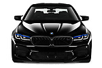 Car photography straight front view of a 2021 BMW M5 Competition 4 Door Sedan Front View