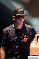 GCL Orioles Andrew Jayne (11) during a Gulf Coast League game against the GCL Red Sox on July 29, 2019 at Ed Smith Stadium in Sarasota, Florida.  GCL Red Sox defeated the GCL Pirates 9-1.  (Mike Janes/Four Seam Images)
