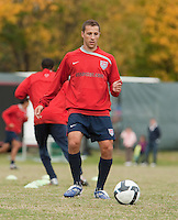Steve Cherundolo. U.S. Men's National Team training at RFK Stadium  Monday October 12, 2009  in Washington, D.C.