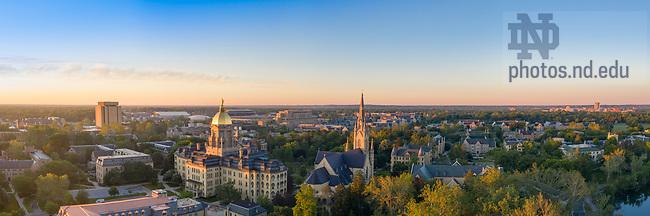 June 15, 2021; Sunrise over campus, summer 2021 (Photo by Matt Cashore/University of Notre Dame)