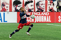 FOXBOROUGH, MA - NOVEMBER 20: Teal Bunbury #10 of New England Revolution traps the ball during the Audi 2020 MLS Cup Playoffs, Eastern Conference Play-In Round game between Montreal Impact and New England Revolution at Gillette Stadium on November 20, 2020 in Foxborough, Massachusetts.(Photo by Andrew Katsampes/ISI Photos/Getty Images).