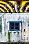 Aging shed, Point Wilson Lighthouse, at Fort Worden State Park, Port Townsend, WA.  Cubist, abstract, representaional.