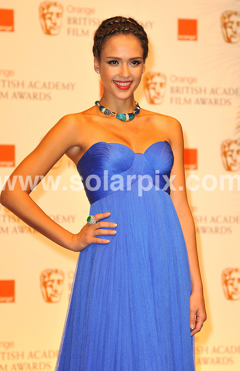 **ALL ROUND PICTURES FROM SOLARPIX.COM**                                             **WORLDWIDE SYNDICATION RIGHTS**                                                                                  Arrivals to the Orange British Academy Film Awards held at The Royal Opera House, London, UK. February 13, 2011                                                                            .This pic:   Jessica Alba                                                                                    JOB REF:    12796    MSR       DATE:    13.02.11                                                        **MUST CREDIT SOLARPIX.COM OR DOUBLE FEE WILL BE CHARGED**                                                                      **MUST AGREE FEE BEFORE ONLINE USAGE**                               **CALL US ON: +34 952 811 768 or LOW RATE FROM UK 0844 617 7637**