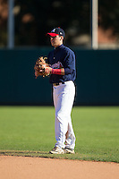 Reid Leonard (54) of Benedictine High School in Richmond, Virginia playing for the Atlanta Braves scout team at the South Atlantic Border Battle at Doak Field on November 2, 2014.  (Brian Westerholt/Four Seam Images)