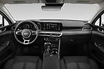 Stock photo of straight dashboard view of 2022 KIA K5 LXS-FWD 4 Door Sedan Dashboard