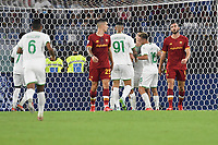 Filip Djuricic of US Sassuolo celebrates after scoring the goal of 1-1 during the Serie A football match between AS Roma and US Sassuolo at Olimpico stadium in Rome (Italy), September 12th, 2021. Photo Antonietta Baldassarre / Insidefoto