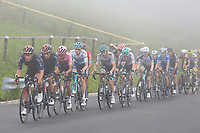 22nd May 2021, Monte Zoncolan, Italy; Giro d'Italia, Tour of Italy, route stage 14, Cittadella to Monte Zoncolan; 2 CASTROVIEJO NICOLAS Jonathan ESP leads ahead of  Egan Bernal (Ineos Grenadiers) COL with team mates and 41 VLASOV Aleksandr RUS