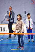 Rotterdam,Netherlands, December 17, 2015,  Topsport Centrum, Lotto NK Tennis, clinic for kids<br /> Photo: Tennisimages/Henk Koster