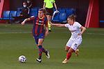 Liga IBERDROLA 2020-2021. Jornada: 12<br /> FC Barcelona vs Sevilla: 6-0.<br /> Patri Guijarro vs Almudena Rivero.