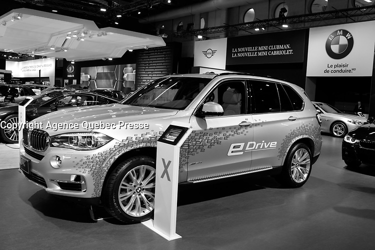 BMW<br /> 2016 model at Montreal car show. January 15, 2016<br /> <br /> Photo : Pierre Roussel - Agence Quebec Presse<br /> <br /> <br /> <br /> <br /> <br /> <br /> <br /> <br /> <br /> <br /> <br /> .