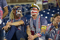 NASHVILLE, TN - SEPTEMBER 5: USA Fans talk with each other after a game between Canada and USMNT at Nissan Stadium on September 5, 2021 in Nashville, Tennessee.