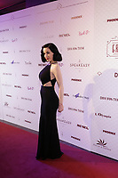 Dita Von Teese pose for photographers on the red carpet of the Olympia de Montreal, before the Dita Von Teese Lavender May and friends'  Grand Cabaret, Sunday February 21, 2016.<br /> <br /> Photo : Raffi Kirdi and  Pierre Roussel - Agence Quebec Presse