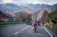 peloton heading into the mountains<br /> <br /> Stage 4 from Terni to Prati di Tivo (148km)<br /> <br /> 56th Tirreno-Adriatico 2021 (2.UWT) <br /> <br /> ©kramon