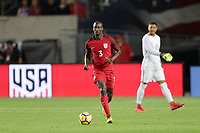 Carson, CA - Sunday January 28, 2018: Ike Opara during an international friendly between the men's national teams of the United States (USA) and Bosnia and Herzegovina (BIH) at the StubHub Center.