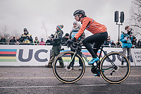 Marianne Vos (NED/Waow Deals) at the start<br /> <br /> Women Elite Race<br /> UCI CX Worlds 2018<br /> Valkenburg - The Netherlands