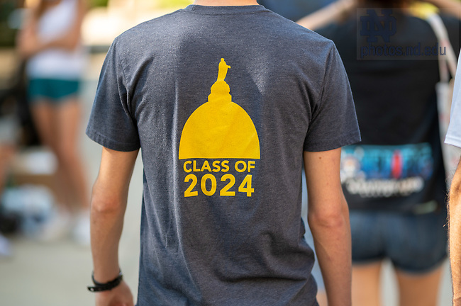 August 5, 2020; Move-In 2020 (Photo by Matt Cashore/University of Notre Dame)