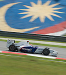 04 Apr 2009, Kuala Lumpur, Malaysia --- BMW Sauber F1 Team driver Robert Kubica of Poland steers his car during the third practice session ahead the 2009 Fia Formula One Malasyan Grand Prix at the Sepang circuit near Kuala Lumpur. Photo by Victor Fraile --- Image by © Victor Fraile / The Power of Sport Images