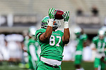 North Texas Mean Green tight end Kelvin Smith (87) in action during the Zaxby's Heart of Dallas Bowl game between the Army Black Knights and the North Texas Mean Green at the Cotton Bowl Stadium in Dallas, Texas.
