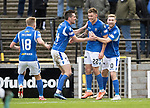 Ayr United v St Johnstone…..08.02.20   Somerset Park   Scottish Cup 5th Round<br />Callum Hendry celebrates his second goal<br />Picture by Graeme Hart.<br />Copyright Perthshire Picture Agency<br />Tel: 01738 623350  Mobile: 07990 594431