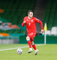27th March 2021; Aviva Stadium, Dublin, Leinster, Ireland; 2022 World Cup Qualifier, Ireland versus Luxembourg; Danel Sinanion an attacking run for Luxembourg