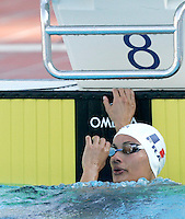 France's Diane Bui Duyet reacts after competing in the Women's 50m Butterfly final at the Swimming World Championships in Rome, 1 August 2009..UPDATE IMAGES PRESS/Riccardo De Luca