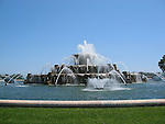 The famous Buckingham Fountain in Chicago, Illinos, USA
