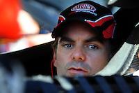 Feb 08, 2009; Daytona Beach, FL, USA; NASCAR Sprint Cup Series driver Jeff Gordon during qualifying for the Daytona 500 at Daytona International Speedway. Mandatory Credit: Mark J. Rebilas-