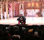 "Bryan Terrell Clark attends the cast Q & A during The Rockefeller Foundation and The Gilder Lehrman Institute of American History sponsored High School student #EduHam matinee performance of ""Hamilton"" at the Richard Rodgers Theatre on October 24, 2018 in New York City."