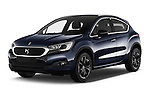 2016 Ds DS-4-Crossback Sport-Chic 5 Door Hatchback Angular Front stock photos of front three quarter view