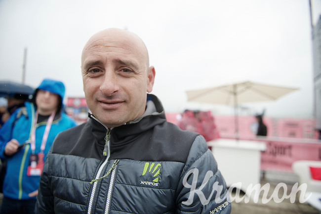former champion Paolo Bettini (ITA) visits the Giro in Belfast<br /> <br /> Giro d'Italia 2014<br /> stage 2: Belfast-Belfast <br /> 219km