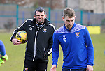 St Johnstone Training... 02.03.21<br />Manager Callum Davidson back in training ahead of tomorrow's game against Hamilton Accies after winning the BETFRED Cup on Sunday.<br />Picture by Graeme Hart.<br />Copyright Perthshire Picture Agency<br />Tel: 01738 623350  Mobile: 07990 594431