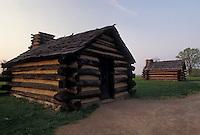 AJ4320, Valley Forge Park, hut, encampment, soldiers' quarters, Valley Forge National Historical Park, Pennsylvania, Soldier Huts at Valley Forge Nat'l Historical Park in the state of Pennsylvania.