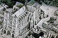 Historic Photo: Amiens Cathedral, aerial view