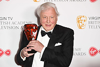Sir David Attenborough<br /> in the winners room for the BAFTA TV Awards 2018 at the Royal Festival Hall, London<br /> <br /> ©Ash Knotek  D3401  13/05/2018