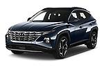 2021 Hyundai Tucson Shine 5 Door SUV Angular Front automotive stock photos of front three quarter view