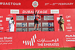 Race leader Tadej Pogacar (SLO) UAE Team Emirates retains the Red Jersey at the end of Stage 6 of the 2021 UAE Tour running 165km from Deira Island to Palm Jumeirah, Dubai, UAE. 26th February 2021.<br /> Picture: LaPresse/Gian Mattia D'Alberto   Cyclefile<br /> <br /> All photos usage must carry mandatory copyright credit (© Cyclefile   LaPresse/Gian Mattia D'Alberto)
