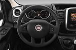 Car pictures of steering wheel view of a 2017 Fiat Talento Pack 4 Door Cargo Van Steering Wheel