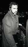 Burt Reynolds<br /> Arriving at the Russian Tea Room<br /> in New York City.<br /> December 1984