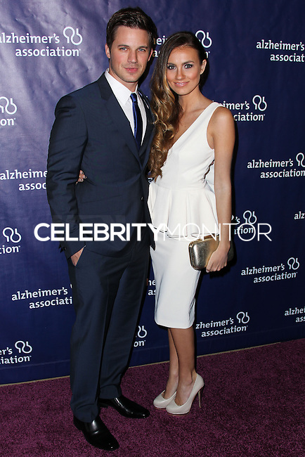 """BEVERLY HILLS, CA, USA - MARCH 26: Matt Lanter, Angela Stacy at the 22nd """"A Night At Sardi's"""" To Benefit The Alzheimer's Association held at the Beverly Hilton Hotel on March 26, 2014 in Beverly Hills, California, United States. (Photo by Xavier Collin/Celebrity Monitor)"""