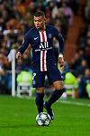 Kylian Mbappe of Paris Saint-Germain FC during UEFA Champions League match between Real Madrid and Paris Saint-Germain FC at Santiago Bernabeu Stadium in Madrid, Spain. November 26, 2019. (ALTERPHOTOS/A. Perez Meca)