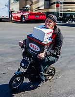 Feb 23, 2018; Chandler, AZ, USA; NHRA pro stock driver Alex Laughlin during qualifying for the Arizona Nationals at Wild Horse Pass Motorsports Park. Mandatory Credit: Mark J. Rebilas-USA TODAY Sports
