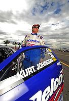 Oct. 31, 2008; Las Vegas, NV, USA: NHRA pro stock driver Kurt Johnson during qualifying for the Las Vegas Nationals at The Strip in Las Vegas. Mandatory Credit: Mark J. Rebilas-