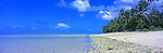 Kiribati Panorama - Beach on North Tarawa, Kiribati <br /> <br /> Image taken on large format panoramic 6cm x 17cm transparency. Available for licencing and printing. email us at contact@widescenes.com for pricing.