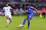 Pritam Kotal of India (R) in action against Sayed Dhiya Saeed of Bahrain during the AFC Asian Cup UAE 2019 Group A match between India (IND) and Bahrain (BHR) at Sharjah Stadium on 14 January 2019 in Sharjah, United Arab Emirates. Photo by Marcio Rodrigo Machado / Power Sport Images