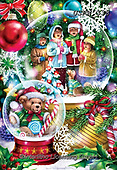 Randy, CHRISTMAS CHILDREN, WEIHNACHTEN KINDER, NAVIDAD NIÑOS, paintings+++++,USRW338,#xk# ,glass ball,crystal ball